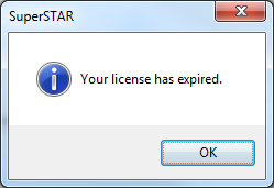 SuperTABLE: License Expired