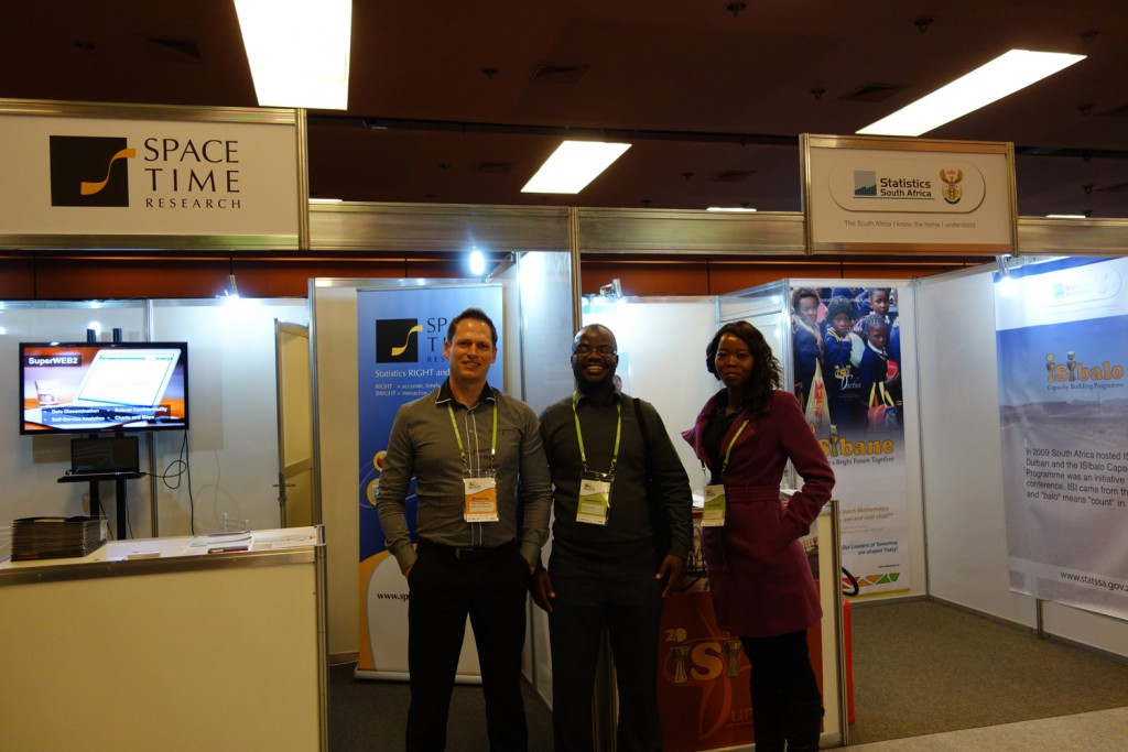 Space-Time Research and Statistics South Africa at ISI 2015